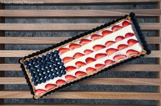 i heart baking!: red white and blue flag tart for july fourth, with...