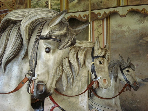 Very realistic, Kit Carson County Carousel in Burlington, Colorado