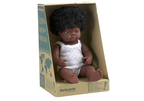 Eco Toys - Miniland Doll African Girl 38cm, $65.00…