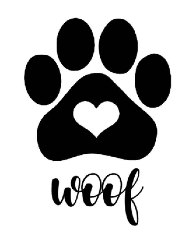 Woof & Paw Print Decal | Treat Jar Decal | Dog Decal | Gifts for the Home | Vinyl Decal by BriteDesignsStudio on Etsy
