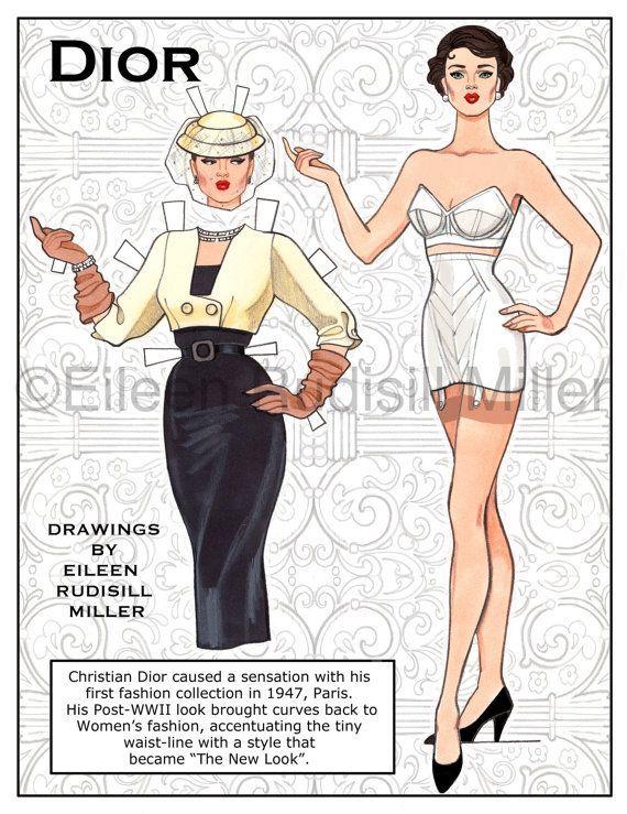Muñeca de papel de Dior                                                       …