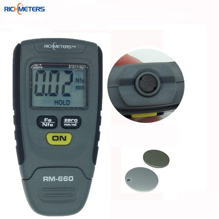 RM660 Digital Paint Coating Thickness Gauge 0-1.25mm Coating Meter Car Thickness Meter Instrument Iron Aluminum Base Metal
