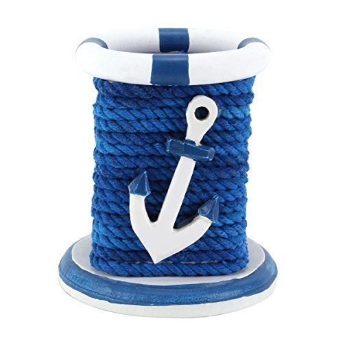 UniqueBella Nautical Rope Entwined Anchor Charm Pen Pencil Holder Desktop Stationery Organizer Box Blue UniqueBella http://www.amazon.co.uk/dp/B00V61RVKY/ref=cm_sw_r_pi_dp_8g1Pwb1J5DFWY