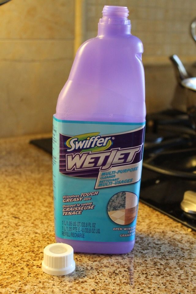 Removing Cap From Swiffer Wet Jet Bottle Diy Cleaning