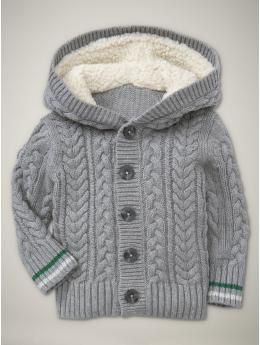 Baby Gap Hooded cableknit cardigan