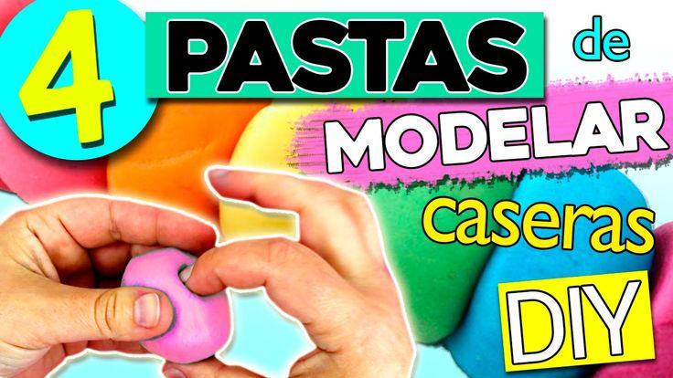 Pasta de MODELAR Casera 4 RECETAS * Pasta de sal, Plastilina, Porcelana ...