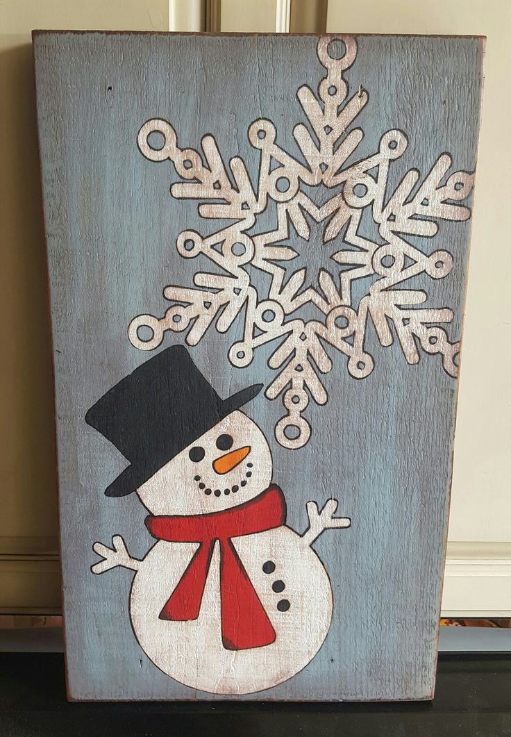 My signature snowman is rustic looking with being painted, then sanded, then stained. Adds the perfect rustic holiday look