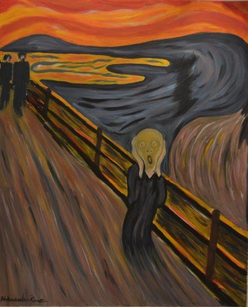 The Scream (E. Munch), oil on canvas by Justyna Molendowska-Ruiz