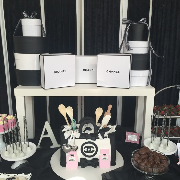 Chanel inspired candy bar
