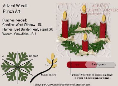 Alex's Creative Corner: Advent Wreath Card