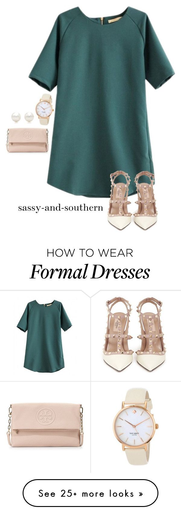 """formal outfit"" by sassy-and-southern on Polyvore featuring Valentino, Kate Spade, Tory Burch, Tiffany & Co., ToryBurch, valentino and katespade"
