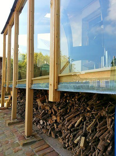 Conservatory Design with Firewood Storage area Incorporated -  CGGW - Engineering Consultants, Surveyors & Architectural Design
