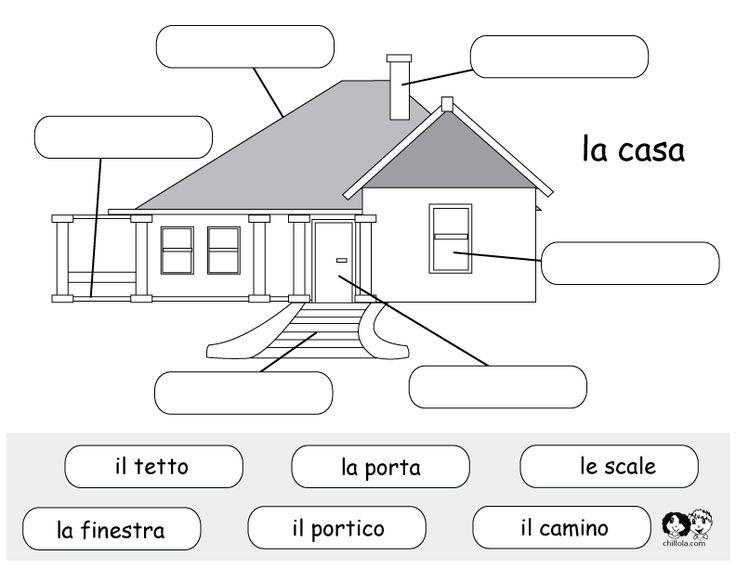 italian printable worksheet house