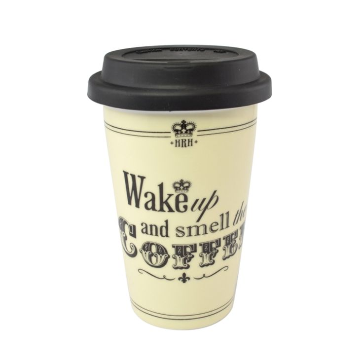 hrh wake up u0026 smell the coffee travel mug - Coffee Travel Mugs