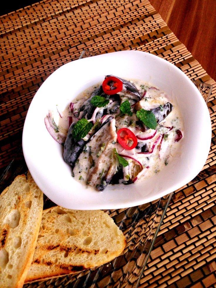 Joghurtos padlizsánsaláta - Aubergine salad with yoghurt
