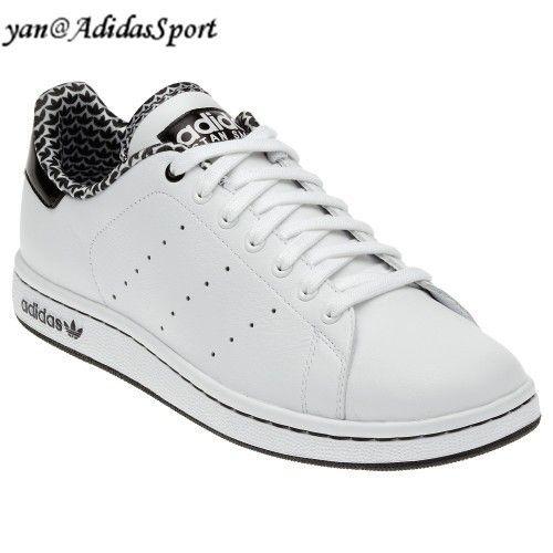 outlet store 4d5e2 3ebfe ... Comprar Barato Mujeres Adidas Originals Stan Smith 2.0 Zapatos de Cuero  Blanco Negro Outlet Madrid ...