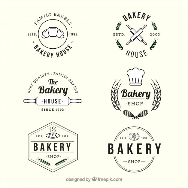 Download Bakery Logos Collection In Vintage Style For Free Bakery Logo Bakery Logo Design Bakery Branding