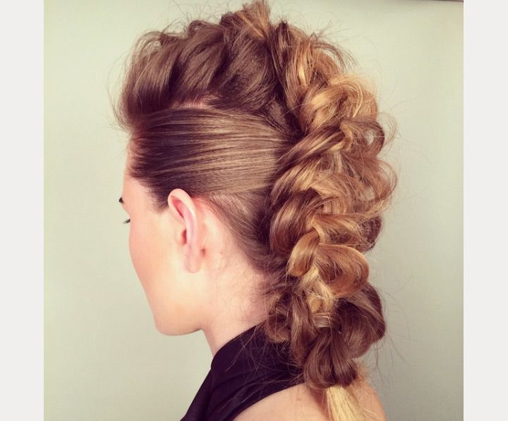 braided faux hawk updo