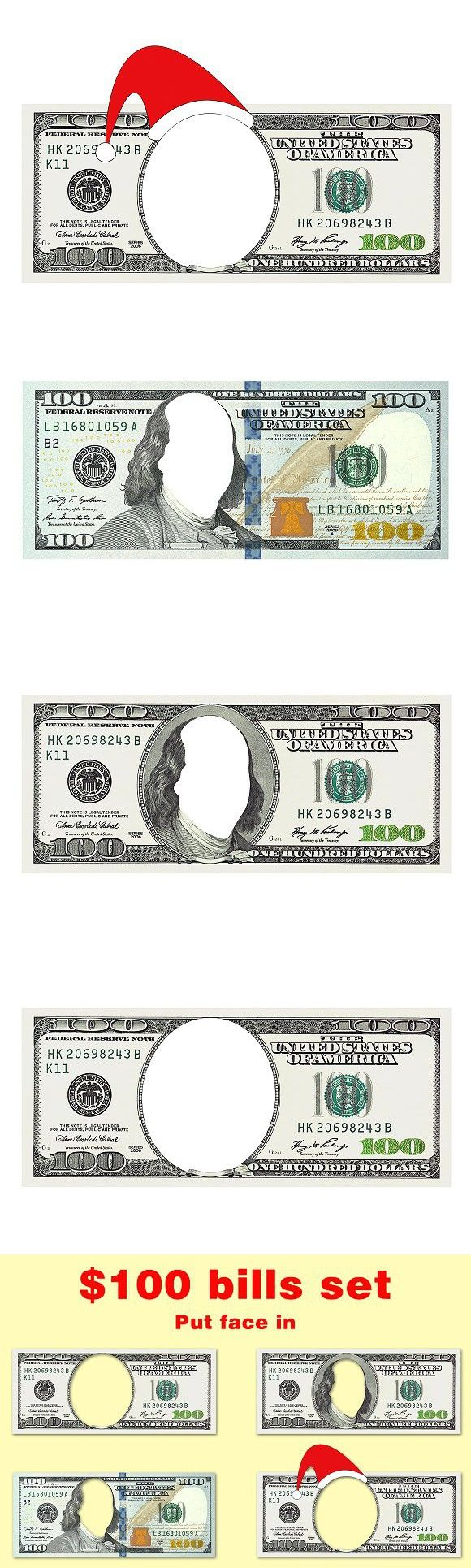 Set Of 100 Bills With No Face Money Collection Bills 100 Dollar Bill