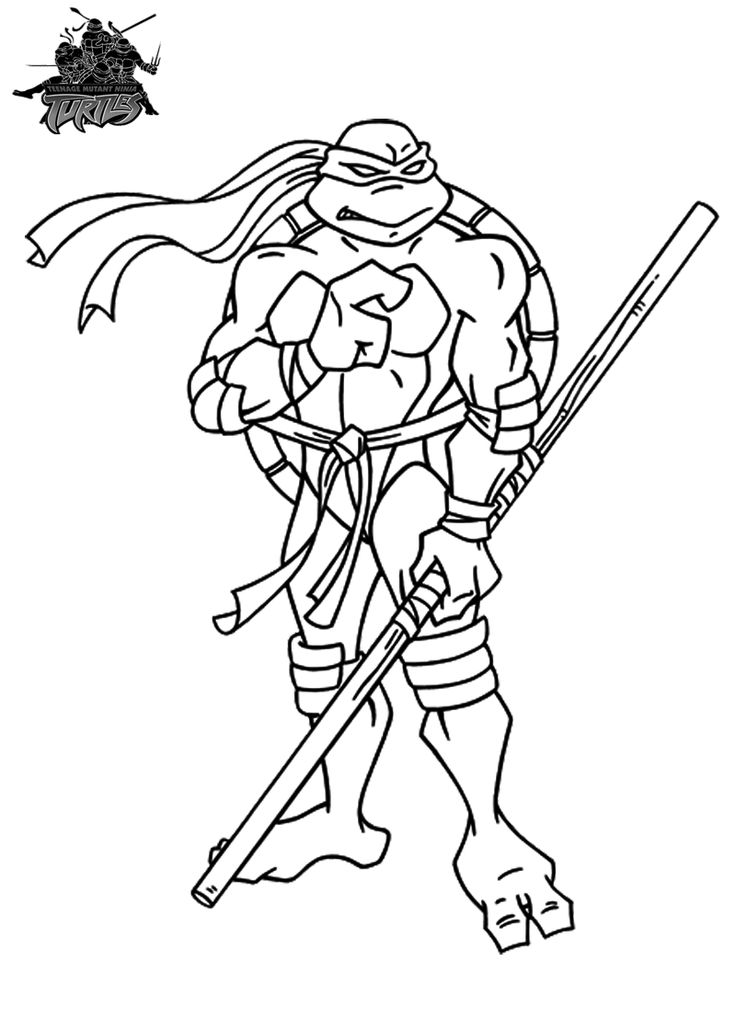 ninja coloring pages for kids - photo#23