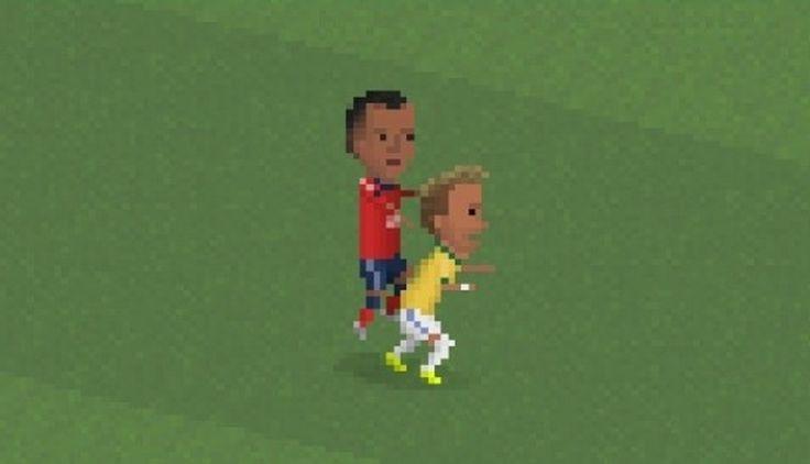 Juan Zúñiga causó la lesión de Neymar, no podrá jugar el resto del mundial. July 07, 2014.