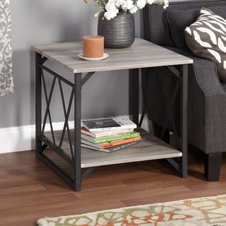 Simple Living Seneca XX Black/ Grey Reclaimed Look End Table