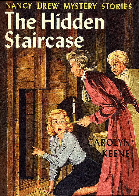 Nancy Drew-my Dad took me to the library every Sat. Afternoon since I was old enough to hold a book, special times!  I remember the smell of old books and checking out every Nancy Drew book they had.