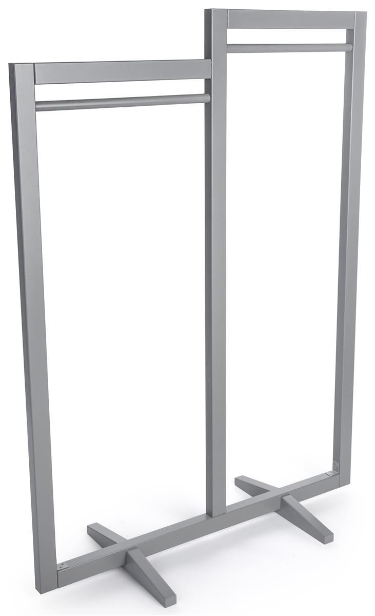 Cloth Hanger Stand Clothing Rack With 2 Rails Gray In 2019 Industrial Retail