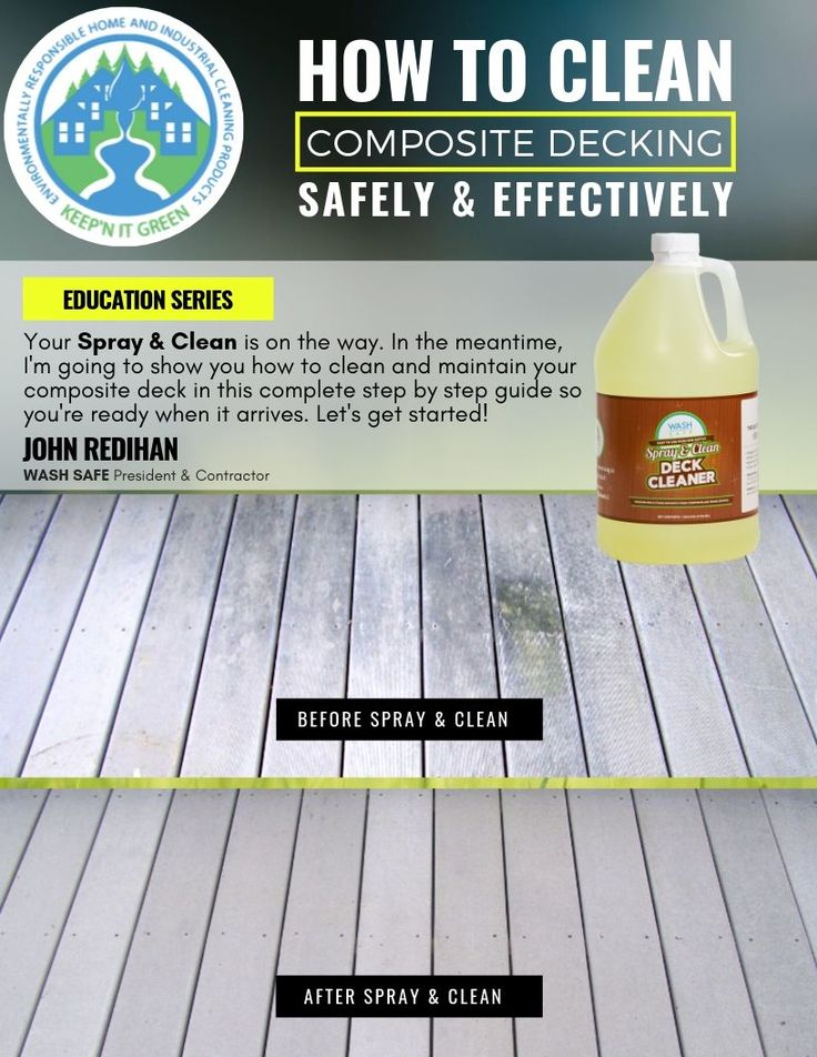 How to Clean a Trex Composite Deck. Our StepbyStep Guide
