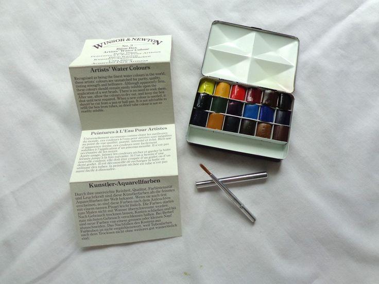 Rare Winsor Amp Newton Artists Compact Water Color Bijiou
