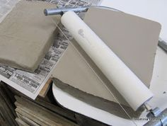 Insomnia Pottery Workshop- homemade slab cutter - great idea!