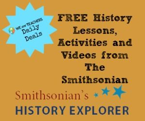 Dozens of FREE lessons and activities for history students from The Smithsonian.