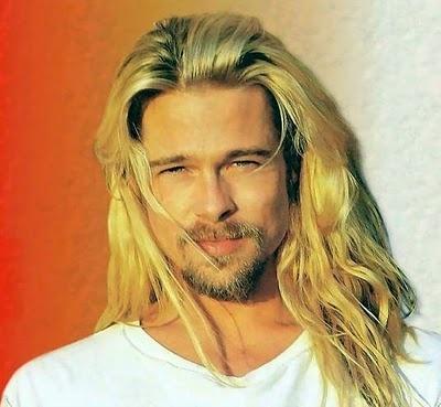 throw-back: Long Hairstyles, updos, Hairdos, Brad Pitt