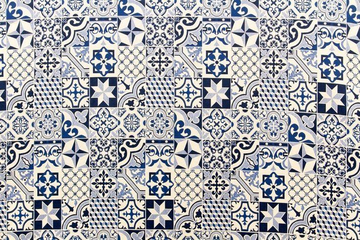 Vidal Tecidos   Produtos   Cerâmica Azul