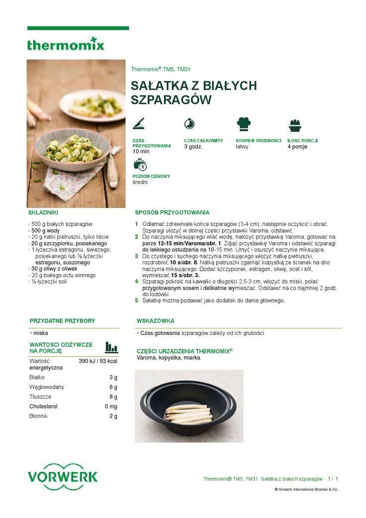 Salatka z bialych szparagow