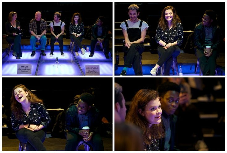 Georgie Henley by Peter Jones - Philip Ridley's Angry (post-show Q&A)