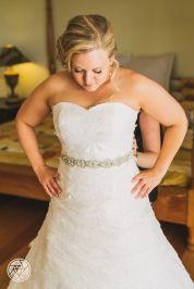 Strapless sweetheart lace Aline wedding dress - custom made by Ziva Wedding Dresses for Yvette
