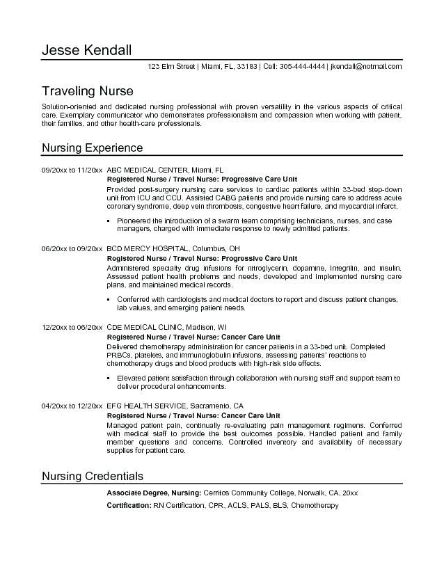 Cath Lab Rn Resume Nurse Resume Sample Nursing Format Writing For Registered Nurse Resume Nursing Resume Resume Objective Examples