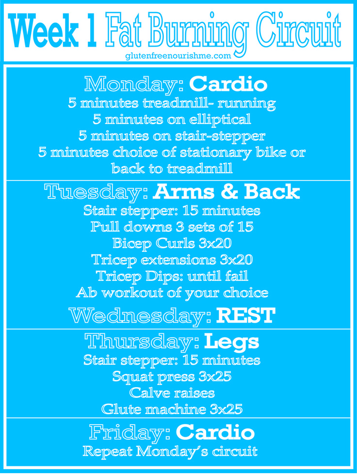 Beginners Fat Burning Workout Curcuit: Week 1