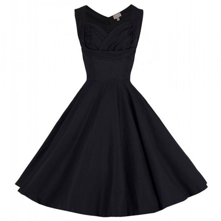 Lindy Bop Ophelia 50's Dress Zwart nu t/m 6XK