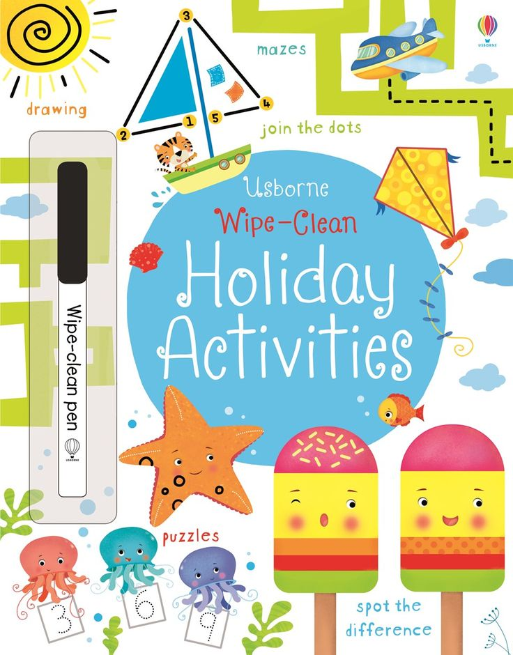 """Find out more about """"Wipe-clean holiday activities"""", write a review or buy online."""