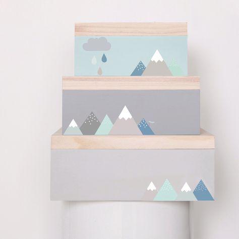 Mini stickers Montagne bleue : Love Maé - Berceau Magique