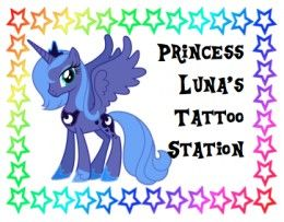 How to Throw a Fabulous My Little Pony Party for a Little Girl... Here's the Princess Luna Tattoo Station