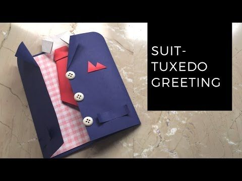 DIY Suit-Tuxedo Greeting Card Tutorial | How To Make Greetings | How To Craft - Anushree's Craft TV - YouTube