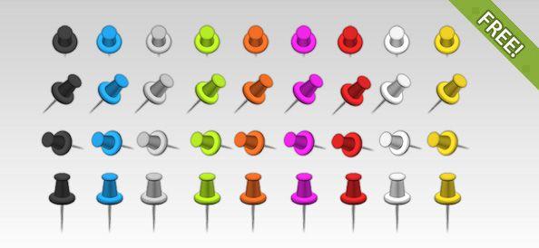 Push Pin Vector Art & Graphics | freevector.com