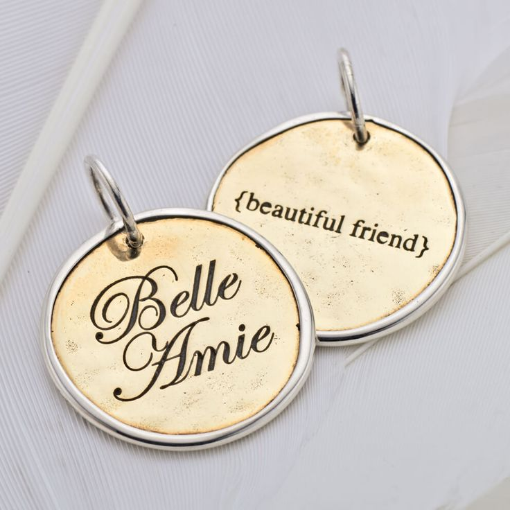 Belle amie charm (2 sided)