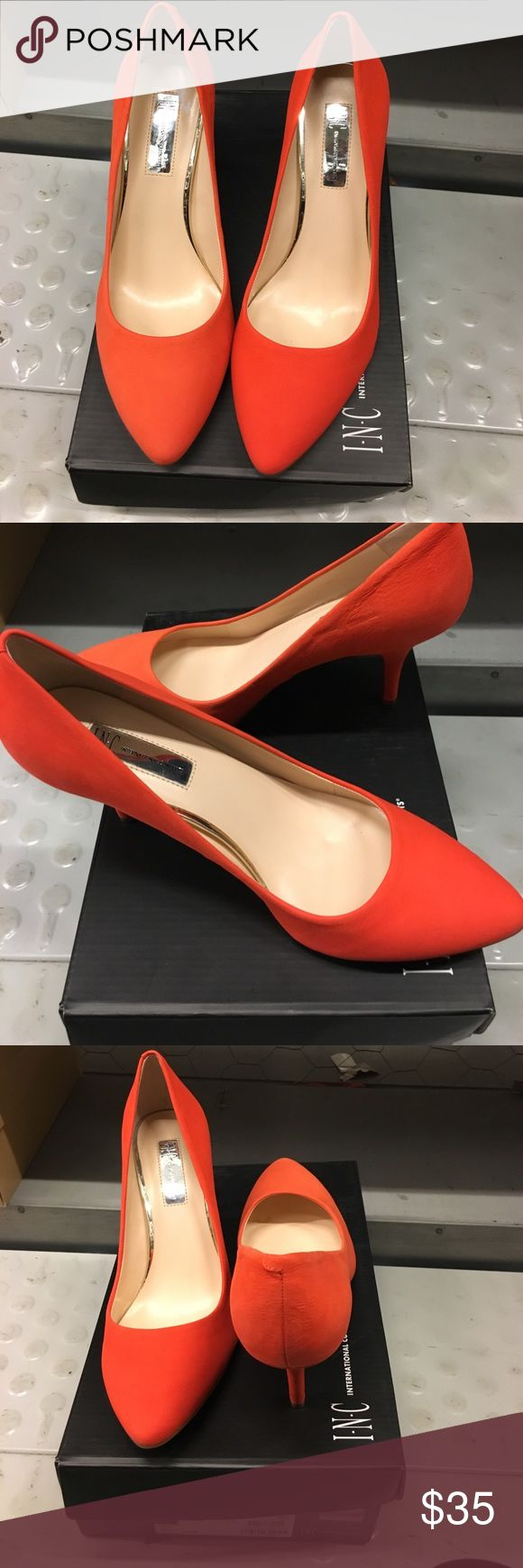 Inc heels, cute orange, size 9.5 Brand new, in box INC International Concepts Shoes Heels