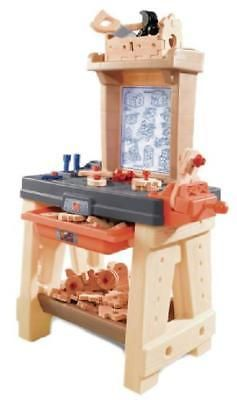 Step2 Kids Pretend Play Set Workshop Tool Children Activity Craftsman Workbench
