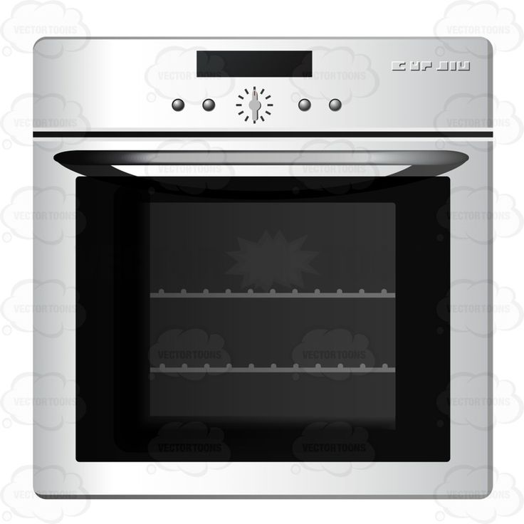 Silver Oven With Buttons And Dials On The Front Above The Oven #baking #boiling #brewing #broiling #browning #cook #cooking #frying #heating #kitchen #kitchenequipment #oven #roasting #simmering #sizzling #steaming #steeping #stewing #stove #toasting