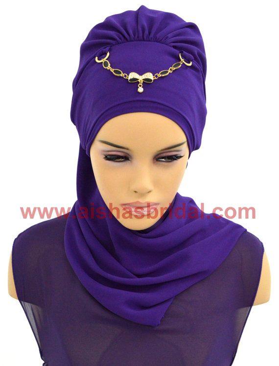 Ready To Wear Hijab  Code: HT-0213 Hijab Muslim by HAZIRTURBAN